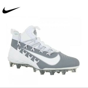 Nike Alpha Huarache 6 Elite Lacrosse Cleats Grey
